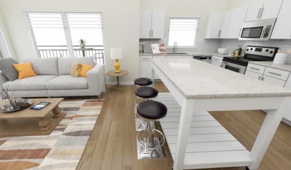 Furnished three bedroom model home